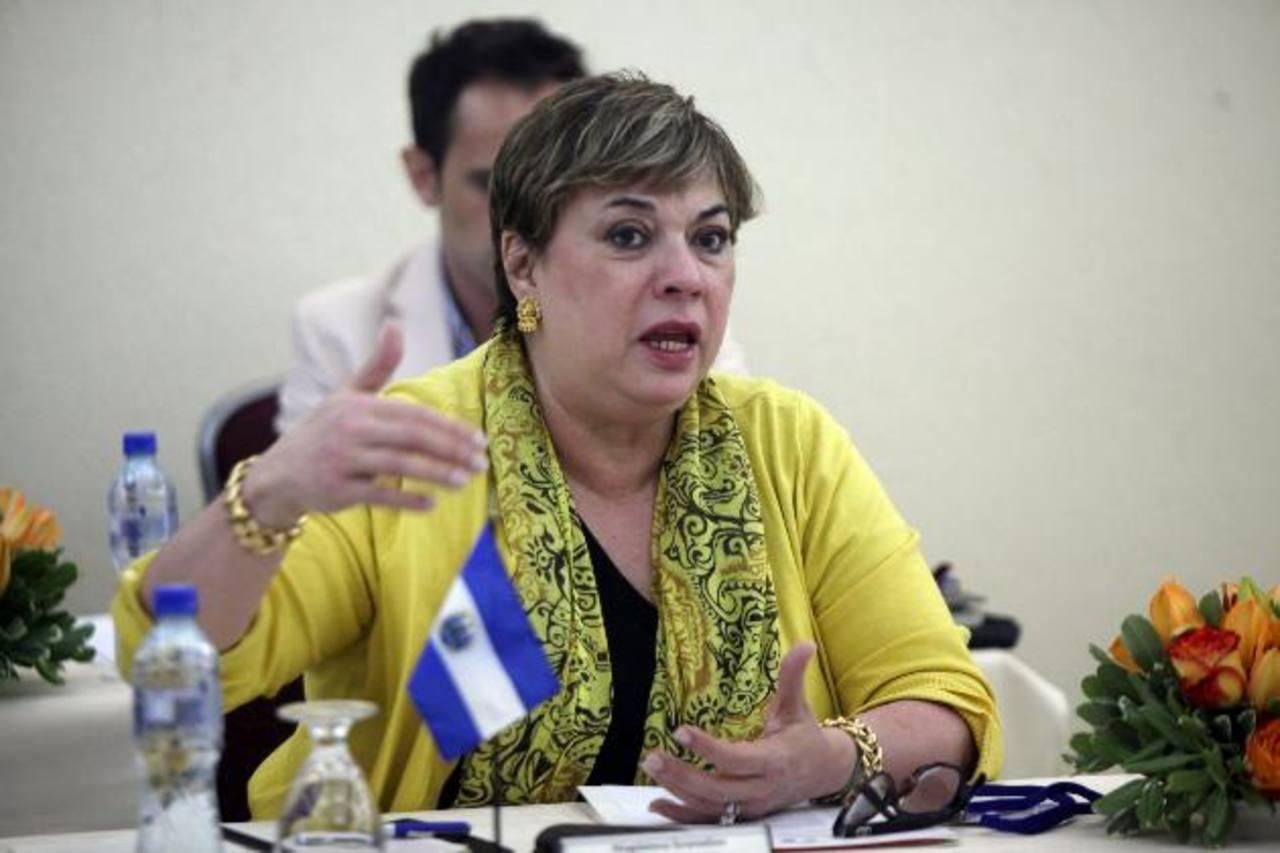 Ana Magdalena Granadino, secretaria de Cultura de la Presidencia (Secultura). FOTO EDH/ ARCHIVO