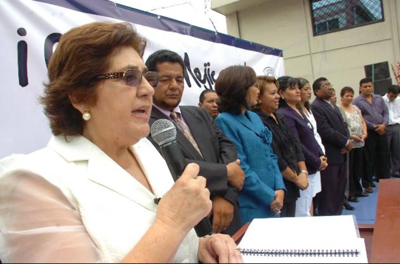 La alcaldesa de Mejicanos, Juana de Pacas, denunció supuestas amenazas en contra de su persona. Foto EDH/ archivo
