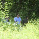 Los restos de Claudia Fenicia Baires Ramírez, de 29 años, fueron hallados a 200 metros de su casa. Foto EDH / Jorge Reyes
