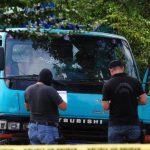 Víctima quedó dentro de este automotor en asiento del copiloto. Foto EDH / Lissette Lemus