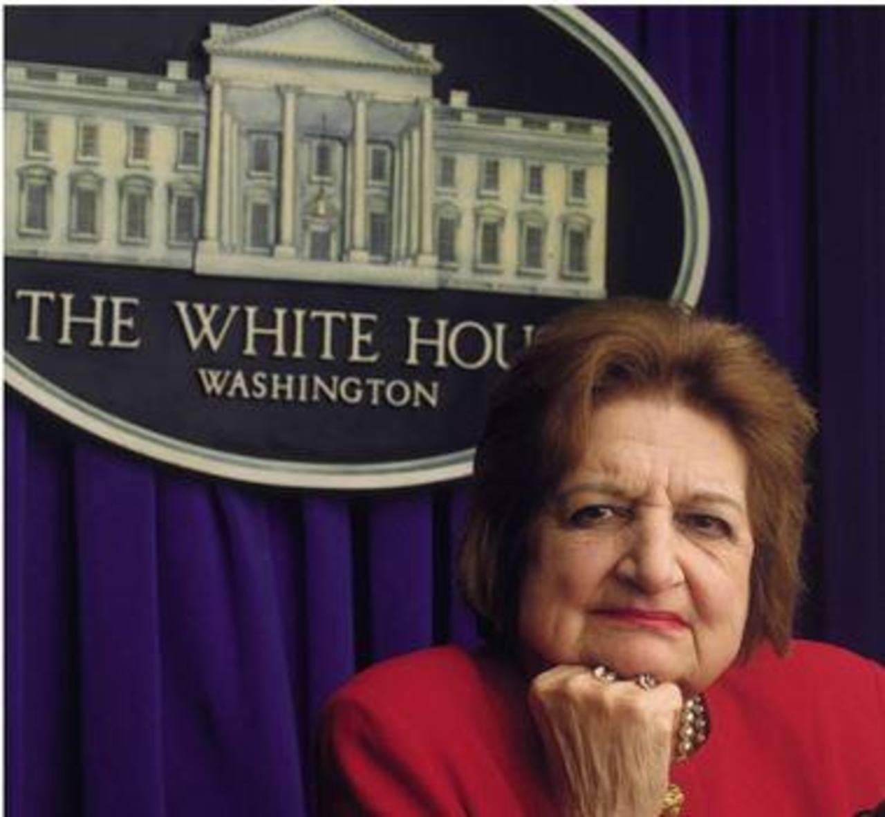 Muere Helen Thomas, veterana corresponsal de la Casa Blanca