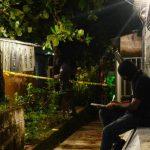 Escena donde fue cometido el asesinato de un octogenario en Ilopango. Foto EDH / René Estrada