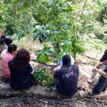 Lugar donde ayer hallaron los cadáveres de dos señoras que habían desaparecido el martes. Foto EDH / Salomón Vásquez