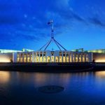 Sede del Parlamento australiano en la ciudad de Canberra.