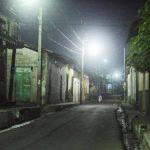 Las calles del municipio de Quezaltepeque quedaron desoladas el viernes desde las 8:00 de la noche. Foto EDH / Jorge Reyes.