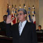 El presidente de la Corte Suprema, Salomón Padilla fue juramentado en agosto de 2012. Foto EDH / Archivo