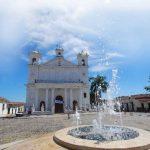 Una fuente central, senderos peatonales y mobiliario urbano pretende potenciar a Suchitoto, Cuscatlán, como uno de los lugares turísticos más atractivos, según el ministerio. Foto EDH/archivo