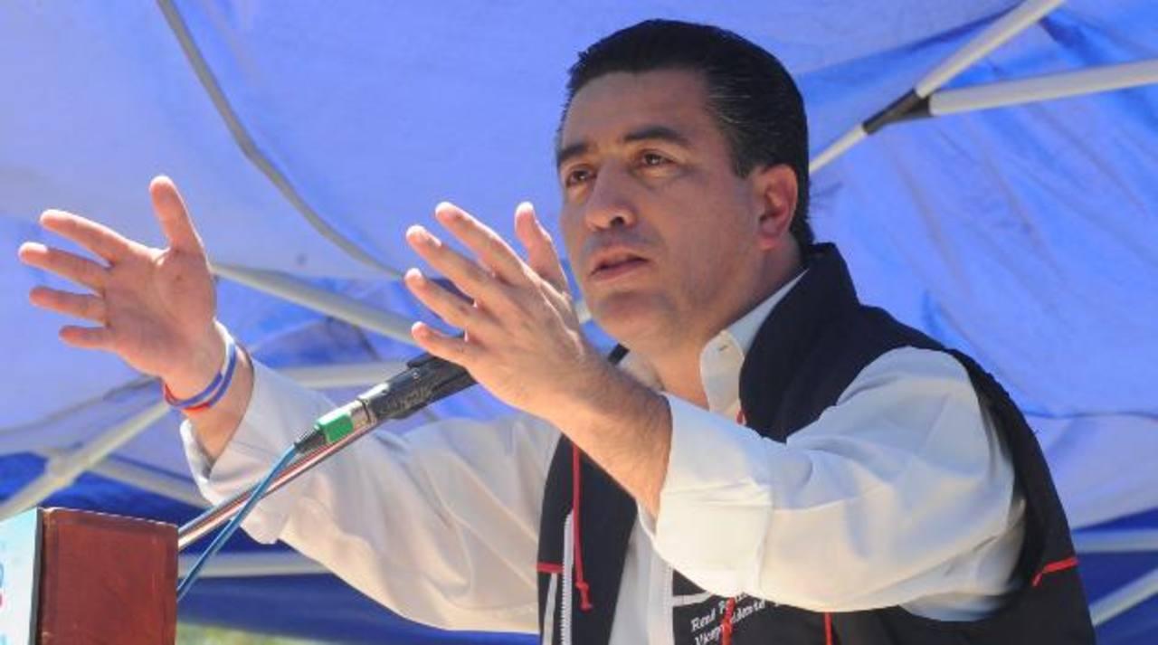 El candidato a la vicepresidencia, René Portillo Cuadra, asegura que nunca se ha reunido con Mijango. Foto EDH / archivo