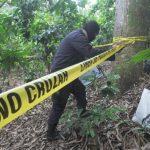 Lugar donde ayer fueron hallados restos humanos que posiblemente sean los de un estudiante desaparecido en 2010.
