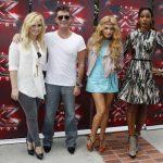 Demi Lovato, Simon Cowell, Paulina Rubio y Kelly Rowland. FOTO EDH/ archivo.