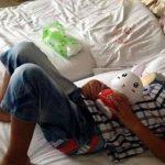 El niño se recupera de un ataque sufrido en la ciudad de Linfen que lo dejó ciego permanentemente, en un hospital de Taiyuan, en la provincia de Shanxi, China. Foto/ AP