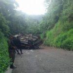 Mueren dos personas durante accidente vial en Panchimalco