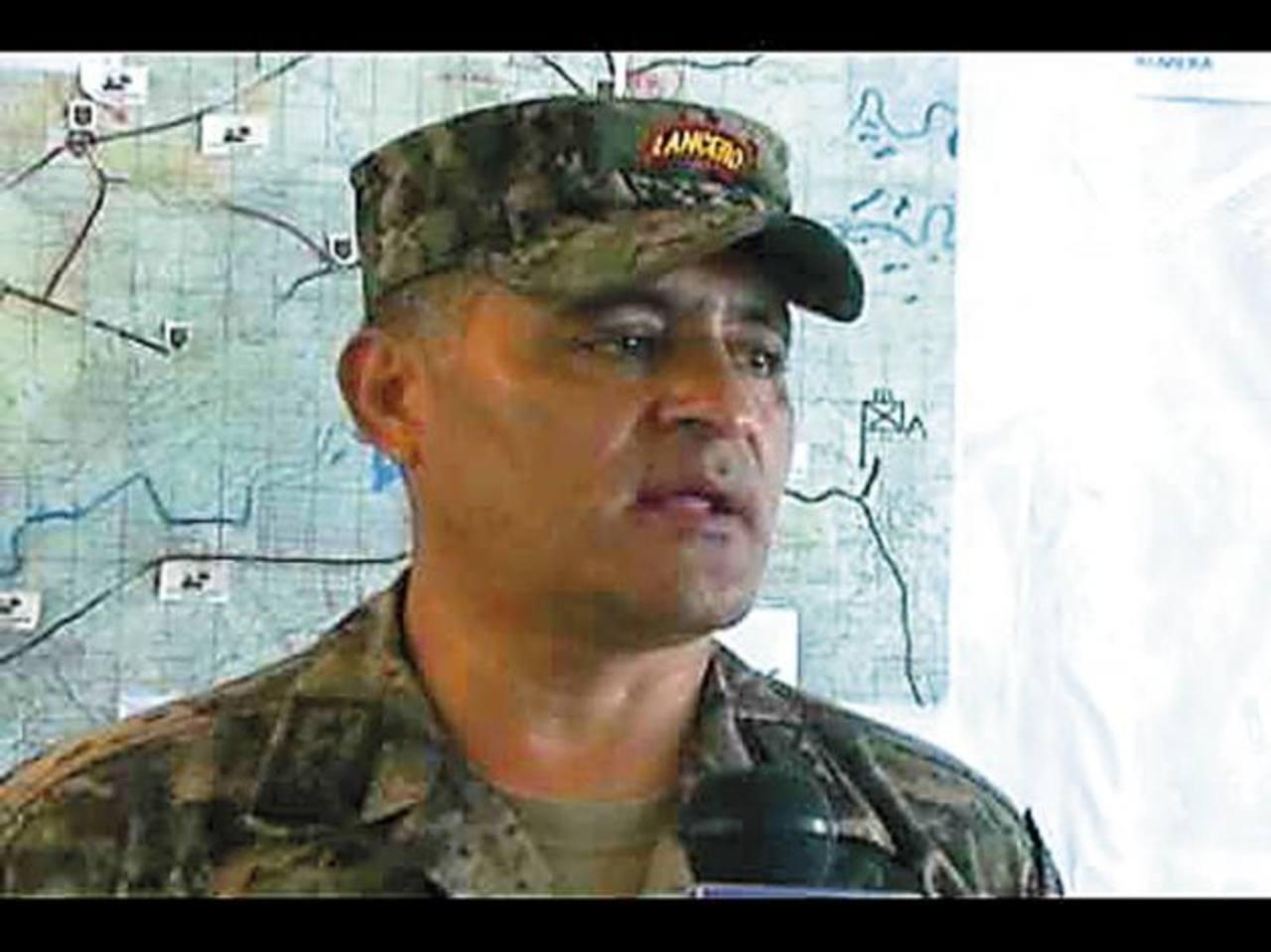 Coronel German Alfaro, jefe de la operación Xatruch.