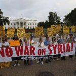 Decenas se pronuncian en la capital estadounidense ante la posible intervención militar de Estados Unidos en Siria