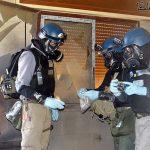 Inspectores de la ONU continuaron ayer recogiendo muestras para determinar si hubo ataque con químicos. foto edh / efe