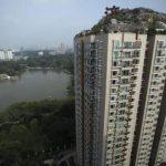 La mansión construida sobre un edificio de 26 pisos en Pekín ocupa un espacio de 800 metros cuadrados. Foto tomada de internet