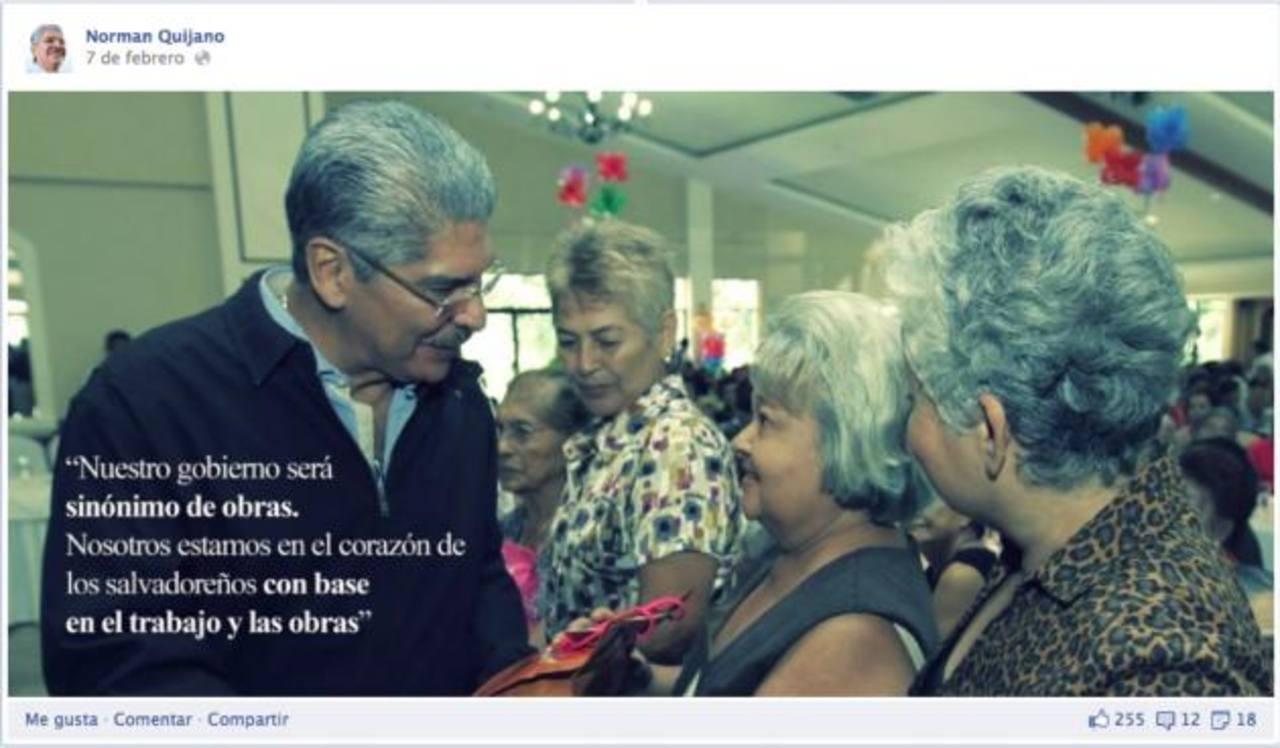 Este encuentro con mujeres es parte del spot del candidato tricolor, Norman Quijano.