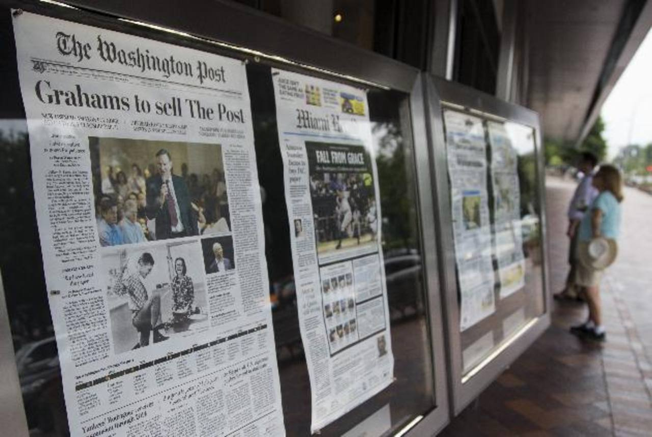 Bezos compró el periódico como individuo, sin que Amazon.com Inc. participe en la transacción. Foto EDH / ap