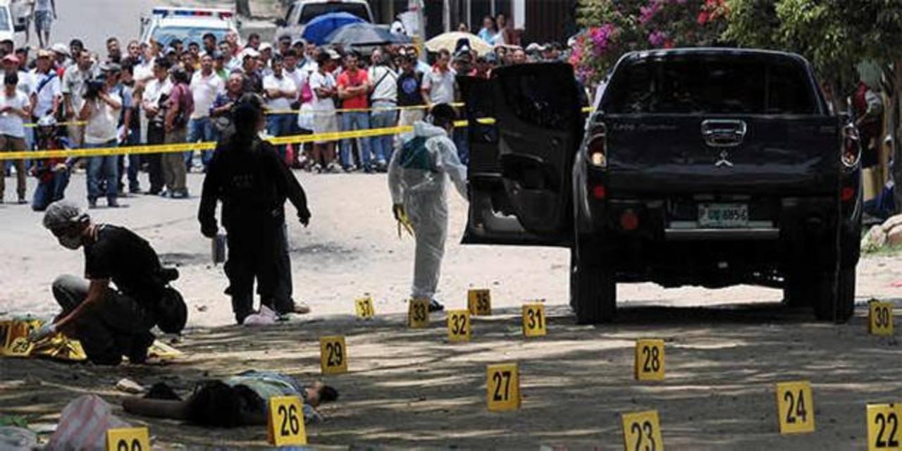 Imagen de referencia sobre una masacre ocurrida en Honduras. La ola criminal en ese país ha dejado 3,238 muertos en el primer semestre de 2013, según cifras oficiales. Foto edh/internetMapa de la zona donde ocurrió la masacre en la que habrían muerto