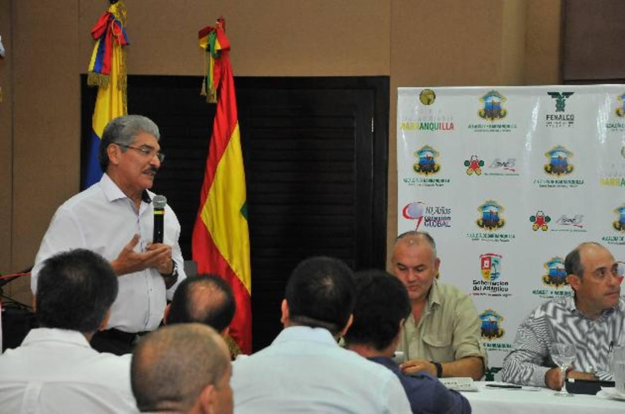 El aspirante a la presidencia participó ayer en actividades previas al Foro que se celebra en Barranquilla. foto edh / cortesía