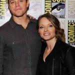 Los actores Matt Damon y Jodie Foster durante su presentanción en la feria Comic Con, en San Diego.