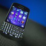 Teléfono BlackBerry Q10. Foto Agencias