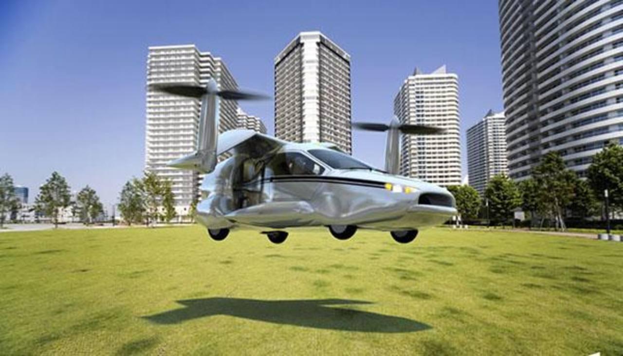 Terrafugia Transition presentó al primer carro volador que de momento en las pruebas de vuelo ha funcionado. Foto EDH