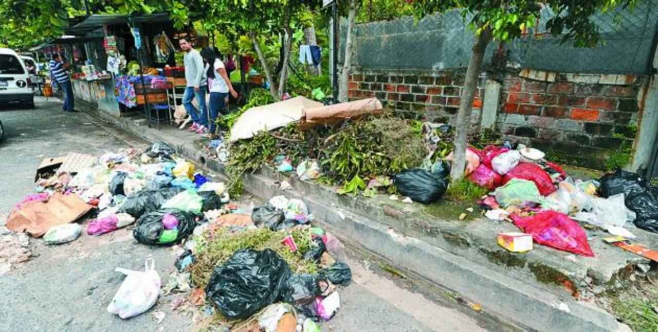Las colonia Zacamil, San Antonio, Metrópolis, Ciudad Corinto, La Gloria, San Ramón han sido algunas de las afectadas. Los promontorios de basura se han acumulado den múltiples esquinas de la zona. FOTO EDH