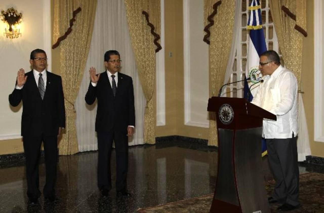 El nuevo canciller fue juramentado ayer por el presidente de la República.