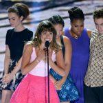 """La actriz Lea Michele, en el centro, de """"Glee"""". Foto/ AP"""