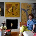 Dora de Cañas conserva varios cuadros que los dejó el pintor para su colección personal.