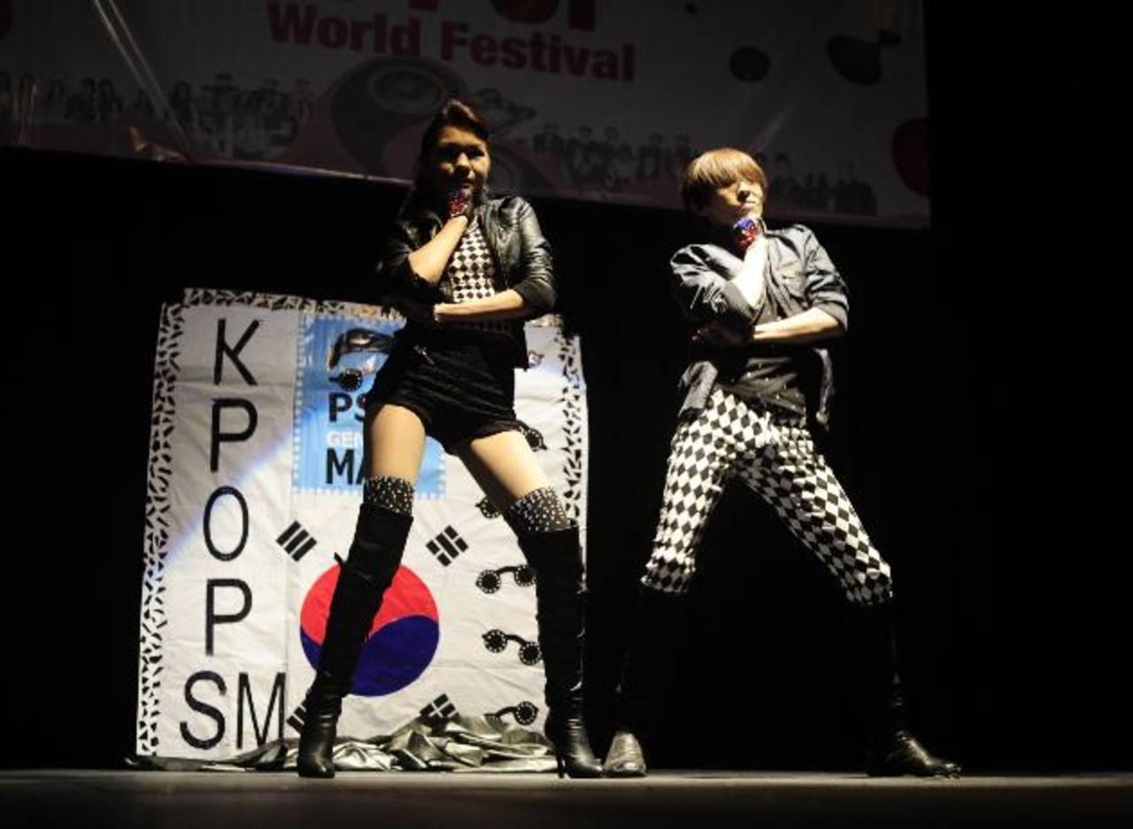 """K-Pop SM encendió los ánimos al bailar """"Gentleman"""" de Psy. FOTOS EDH/ Jorge Reyes"""
