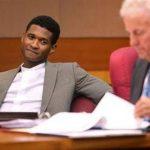 El cantante Usher en la corte antes de una audiencia de emergencia con su ex esposa Tameka Raymond en la Corte Superior del Condado de Fulton. Foto/ AP