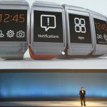 El presidente y CEO de Samsung, Shin Jong-kyung, presenta el reloj inteligente Galaxy Gear en la feria IFA, en Berlín, Alemania.