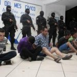 Estos son los detenidos. FOTO EDH Cortesía PNC.