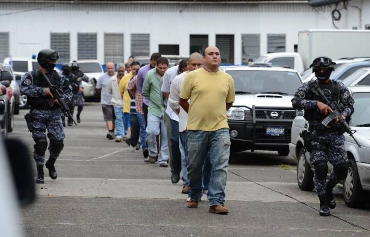 Los supuestos integrantes del cartel de Texis, capturados la semana pasada, serán acusados de tráfico ilícito de drogas. foto edh