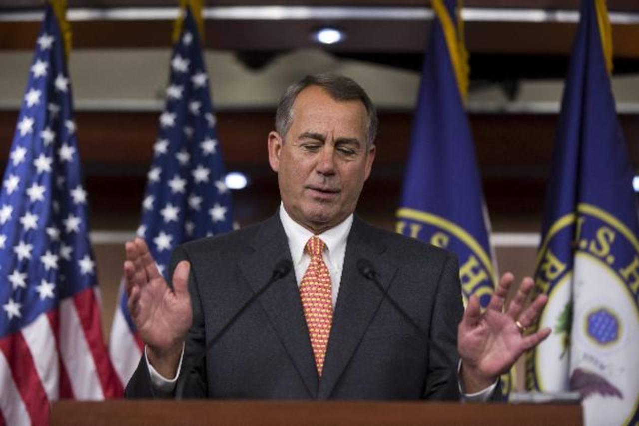 Boehner anunció el plan con miras a autorizar un año más el alza del techo de la deuda pública a cambio de suprimir los fondos. EFE