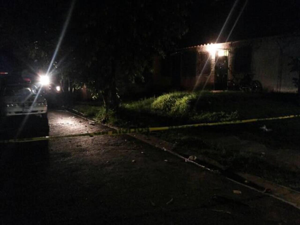 Sitio del ataque. FOTO EDH Jorge Reyes, vía Twitter.