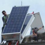 Una textilera, en el municipio de Apopa, optó por instalar paneles solares para ahorrar energía. foto edh / marlon Hernández