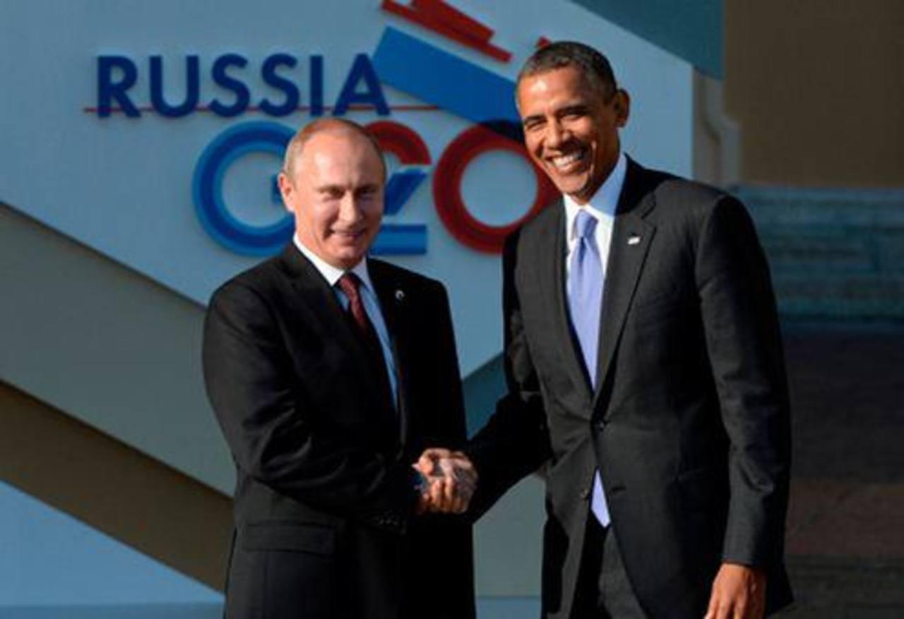 El encuentro entre Putin y Obama solo duró 15 segundos. Foto/ Agencias