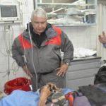Gómez Cincunegui al momento de ser ingresado a un hospital