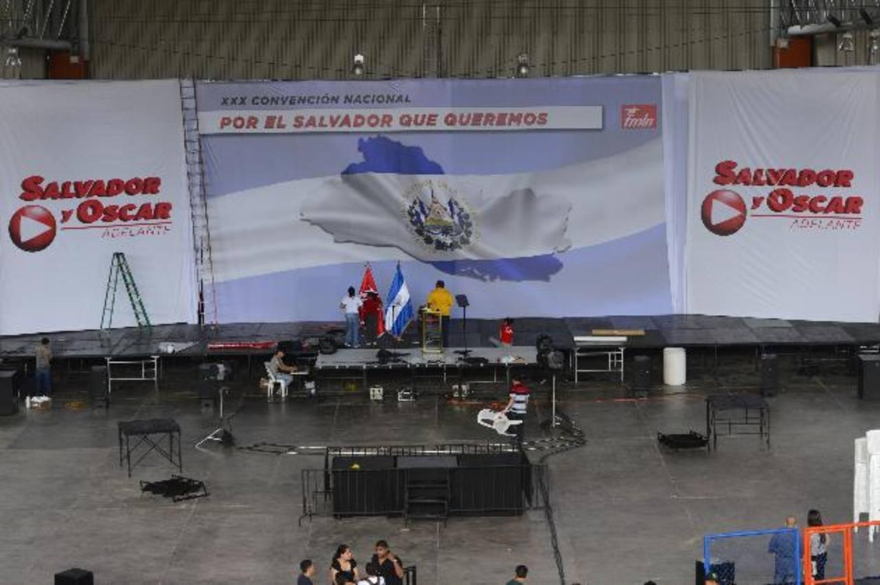 El anfiteatro del Cifco será el escenario en el que los efemelenistas harán hoy su convención nacional. foto edh/marvin recinos
