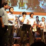 La Orquesta de Instrumentos Reciclados del Paraguay durante su presentación musical en Washington DC.