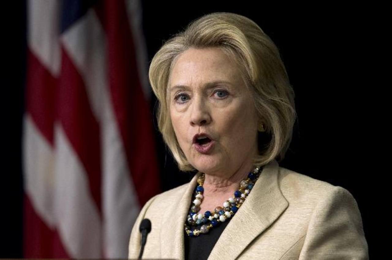 La ex secretaria de Estado y primera dama estadounidense, Hillary Clinton. Foto/ AP