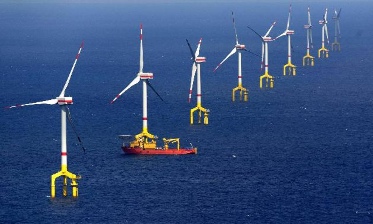 El parque eólico se ubica en la isla de Borkum. foto edh/archivo
