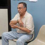 Perla espera la audiencia especial en el Juzgado de Vigilancia de San Salvador. Foto EDH / Cortesía Juzgados Prensa