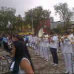 Banda Bicentenario celebrando el inicio del mes