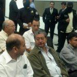 Los acusados en el caso Diego de Holguín en la audiencia inicial en el Juzgado Quinto de Paz. Foto vía Twitter Diana Escalante