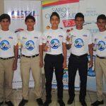 Jugadores de FESA con Agua Alpina, su nuevo patrocinador.