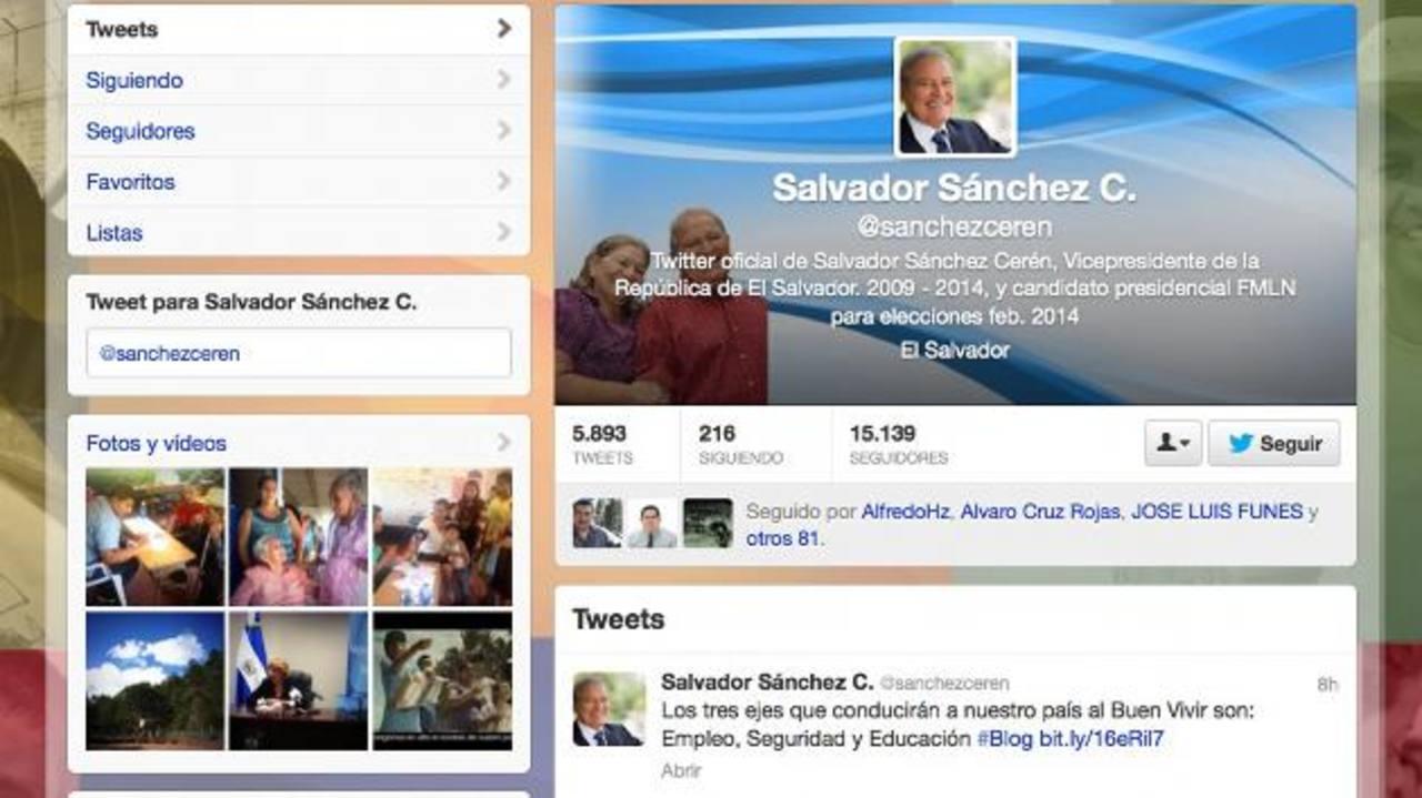 El aspirante oficialista informa en su cuenta en la red social twitter las actualizaciones de su blog. Foto eh /